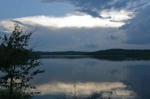 Sunset on Drinking Lake
