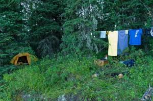 Campsite on Uskik Lake