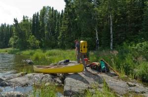 Portaging Rapids on Iskwatam Lake (Rapid 3)